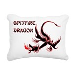 Black Spitfire Dragon Rectangular Canvas Pillow