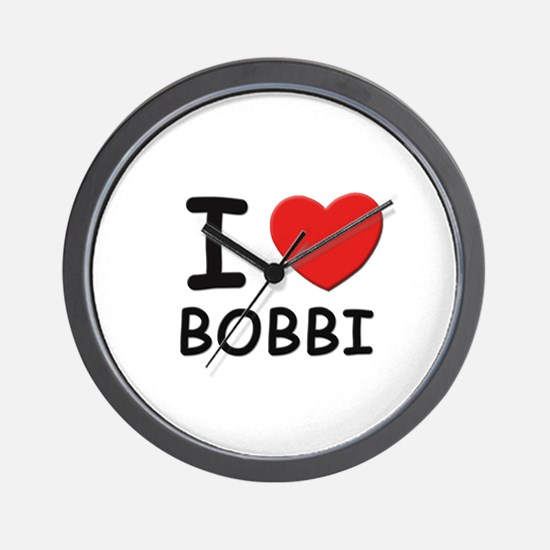 I love Bobbi Wall Clock
