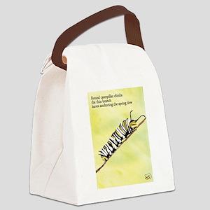Caterpillar Haiku Canvas Lunch Bag