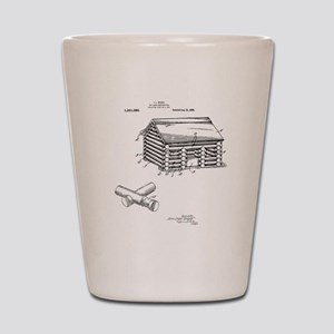 Toy Log Cabin Shot Glass
