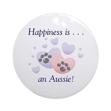 Happiness is...an Aussie Ornament (Round)