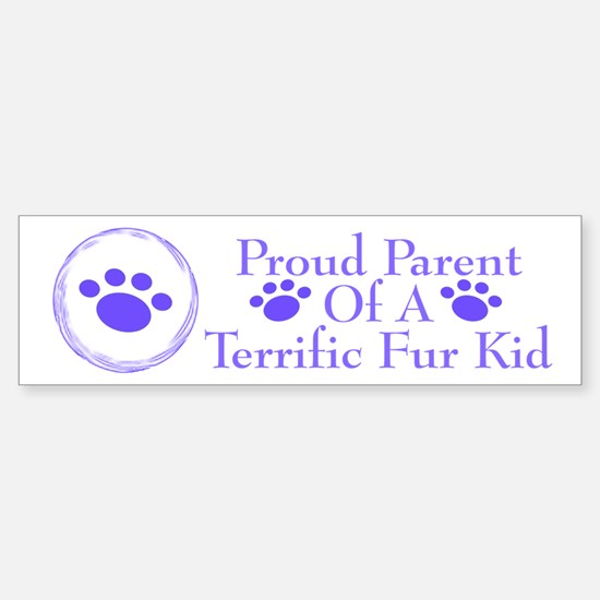 Terrific Fur Kid 222 Bumper Bumper Bumper Sticker