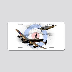 Spitfire and Lancaster Aluminum License Plate