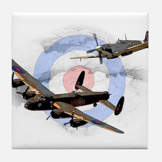 Spitfire and Lancaster Tile Coaster