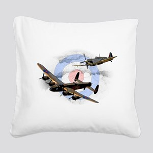 Spitfire and Lancaster Square Canvas Pillow
