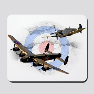 Spitfire and Lancaster Mousepad