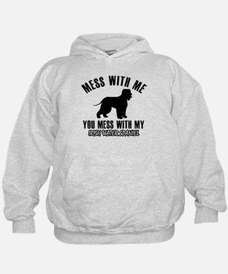 Irish Water Spaniel owner designs Hoodie