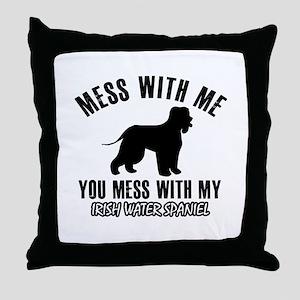 Irish Water Spaniel owner designs Throw Pillow