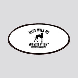 Italian Greyhound owner designs Patches