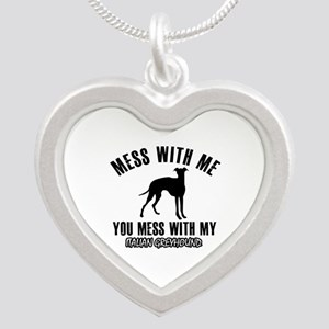Italian Greyhound owner designs Silver Heart Neckl
