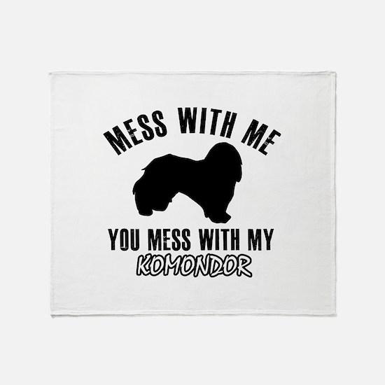 Komondor owner designs Throw Blanket