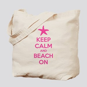 Keep calm and beach on Tote Bag