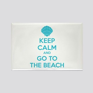 Keep calm and go to the beach Rectangle Magnet