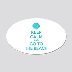 Keep calm and go to the beach 22x14 Oval Wall Peel