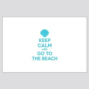 Keep calm and go to the beach Large Poster
