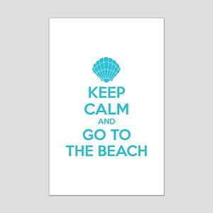 Keep calm and go to the beach Mini Poster Print