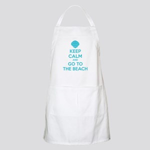 Keep calm and go to the beach Apron