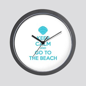 Keep calm and go to the beach Wall Clock