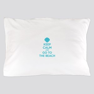 Keep calm and go to the beach Pillow Case