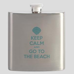 Keep calm and go to the beach Flask