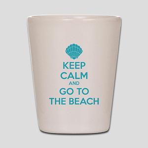 Keep calm and go to the beach Shot Glass