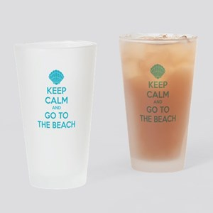 Keep calm and go to the beach Drinking Glass