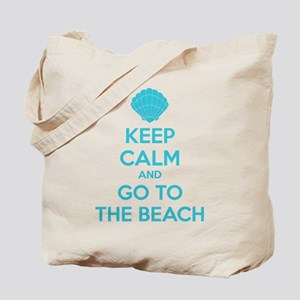 Keep calm and go to the beach Tote Bag
