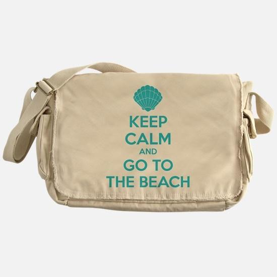 Keep calm and go to the beach Messenger Bag