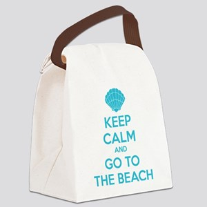 Keep calm and go to the beach Canvas Lunch Bag