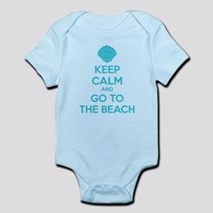 Keep calm and go to the beach Infant Bodysuit