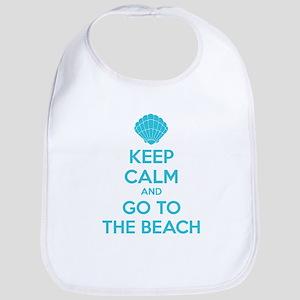 Keep calm and go to the beach Bib