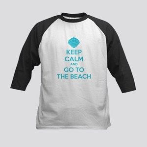 Keep calm and go to the beach Kids Baseball Jersey