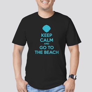 Keep calm and go to the beach Men's Fitted T-Shirt