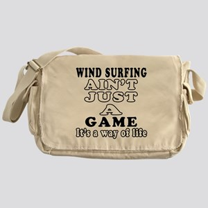 Wind Surfing ain't just a game Messenger Bag