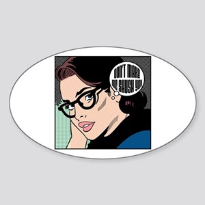 Retro Librarian Humor Sticker (Oval)
