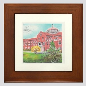 School in color Framed Tile