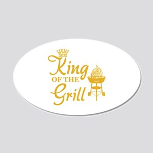 King of the grill 22x14 Oval Wall Peel