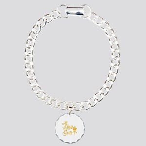 King of the grill Charm Bracelet, One Charm