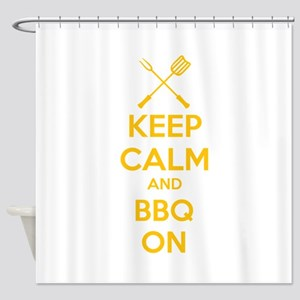 Keep calm and bbq on Shower Curtain