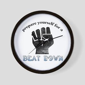 Beat-Down Wall Clock