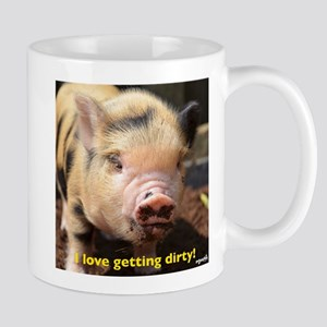 I love getting dirty! Small Mug