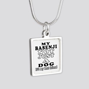 Basenji not just a dog Silver Square Necklace