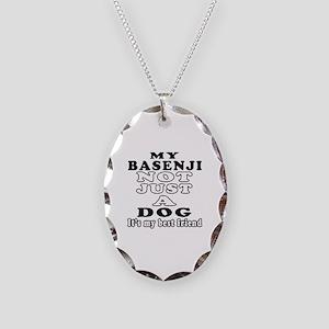 Basenji not just a dog Necklace Oval Charm