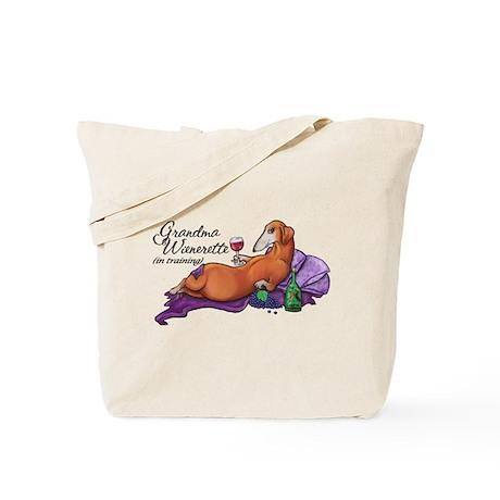 Wienerette in Training Tote Bag