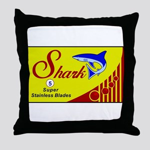 Shark Razors Throw Pillow