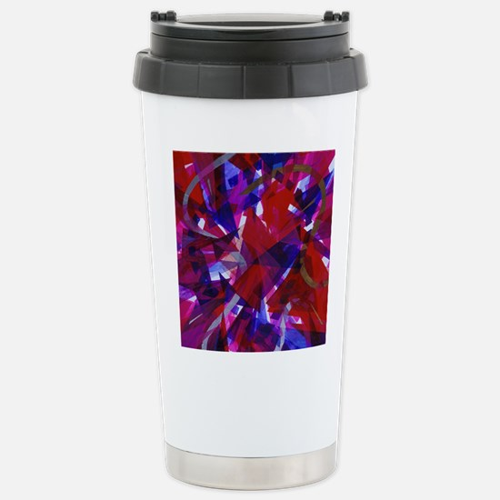 Dance of Life Abstract Stainless Steel Travel Mug