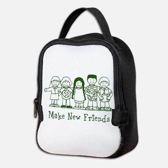 Make New Friends Neoprene Lunch Bag
