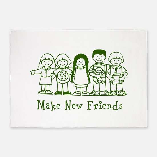Make New Friends 5'x7'Area Rug