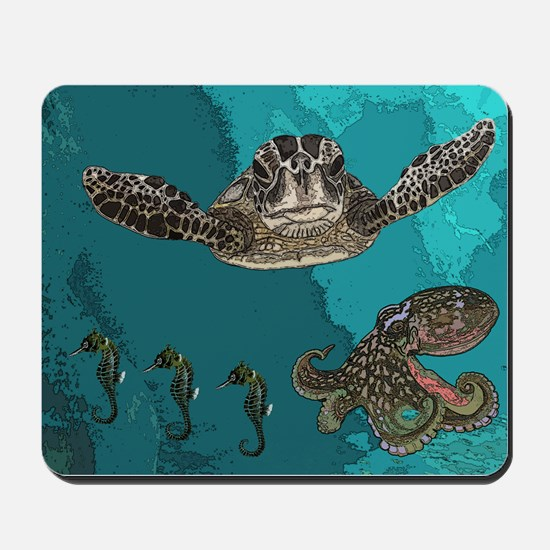 Sea creatures Mousepad