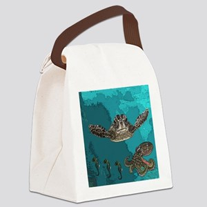 Sea creatures Canvas Lunch Bag